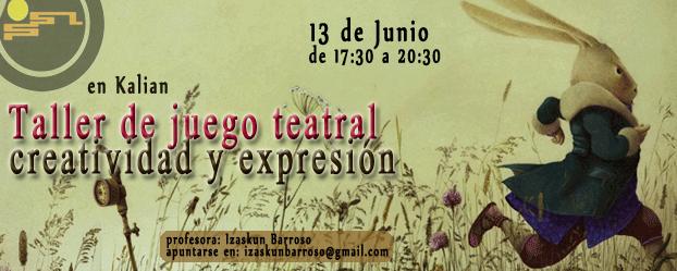 TALLER DE JUEGO TEATRAL
